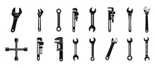 Wrench Key Icons Set. Simple S...