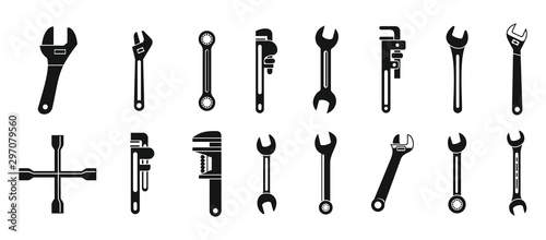 Cuadros en Lienzo  Wrench key icons set