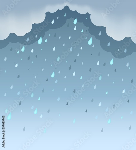 Montage in der Fensternische Für Kinder Rainy weather theme background 1