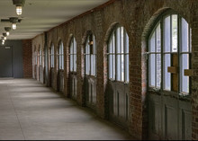 Ong Corridor Walled Whit Arched Window Panels