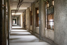 Corridor In Abandoned Hospital Building
