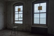 Statue Of Liberty Through The Window Of Ellis Island Hospital