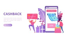 Cashback Vector Website Landing Page Design Template
