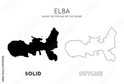 Fotografía Elba map