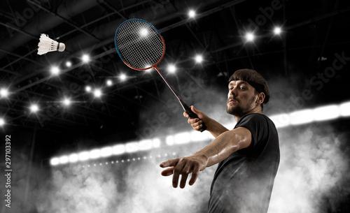 Man badminton player Wallpaper Mural