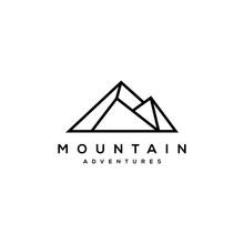 Illustration Simple Mountain Logo Design Vector