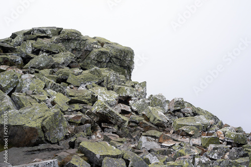 Fototapeta  Ztracene kameny (Lost stones), Jeseniky mountains, Czech Republic / Czechia - landscape of natural heap, pile and mound of stones, rock  and boulder