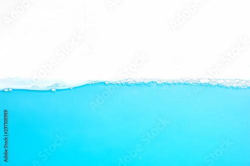Fotografija  Water Surface Splash and bubbles . on white background.