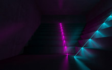 Abstract Empty Dark Interior W...