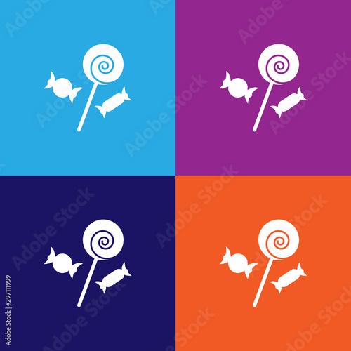 Vászonkép Sweets icon