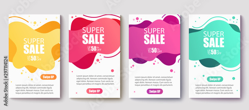 Pinturas sobre lienzo  Dynamic modern fluid mobile for sale banners