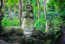 Scary Balinese Women Statue In...