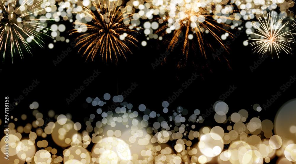 New Year fireworks background