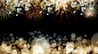 canvas print picture - New Year fireworks background