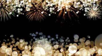 FototapetaNew Year fireworks background