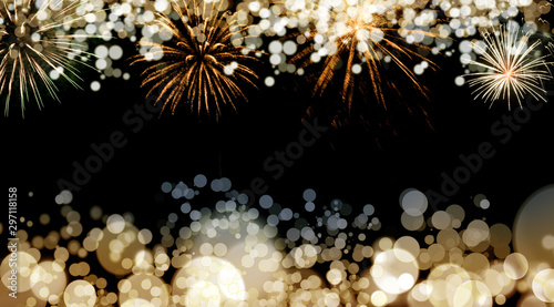 Carta da parati  New Year fireworks background