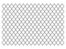 Segment Of A Metal Mesh Fence. Chain Link Fence Texture. Vector Illustration Image. Isolated On White Background.