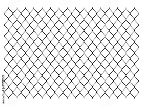 Tablou Canvas Segment of a metal mesh fence