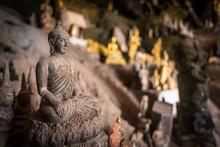 Buddha Statue In Pak Ou Cave, Laos