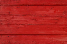 Red Vintage Painted Wooden Planks Background