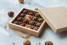 Set Of Chocolate Truffles With...