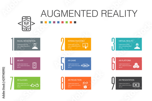 Augmented reality Infographic 10 option line concept Wallpaper Mural