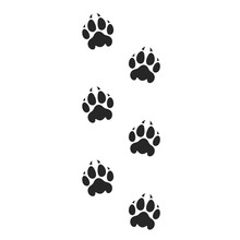Tiger Paw Print. Silhouette. I...