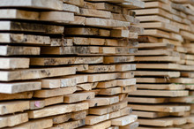 Stacked Wood Planks, Construction Material