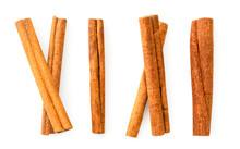 Cinnamon Sticks On A White. Th...