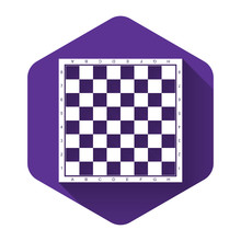White Chess Board Icon Isolate...