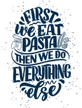 Hand Drawn Ettering Quote Abou...