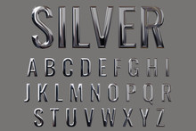 Letter Set With Metal Texture ...