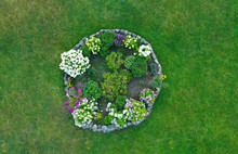 Aerial Drone Top Down View On ...