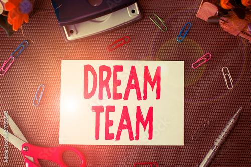 Obraz na plátne Handwriting text Dream Team