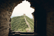 Views From Inside A Watchtower On The Jinshanling Section Of The Great Wall Of China In Hebei Province, Near Beijing.