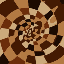 Brown And Black And White Spin...