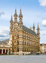 Town Hall In Center Of Leuven,...