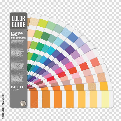 Stampa su Tela Color guide on transparent background vector