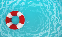Lifebuoy In Hotel Pool - 3D Re...