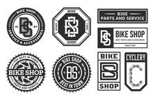 Set Of Vector Bike Shop, Bicyc...