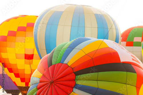 Early morning Hot Air Balloon inflation and Ascension