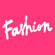 Fashion. Vector hand drawn illustration with cartoon lettering. Good as a sticker, video blog cover, social media message, gift cart, t shirt print design.
