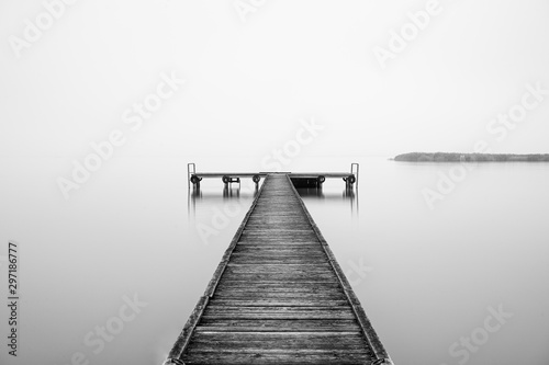 Pier at the Lake Neusiedl in Burgenland, Austria