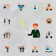 Employee color icon. Universal set of business for website design and development, app development