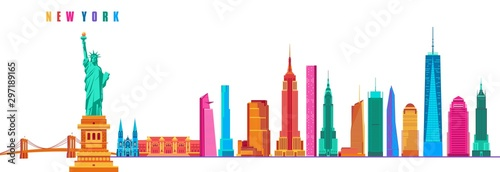 New York City vector illustration of an abstract background