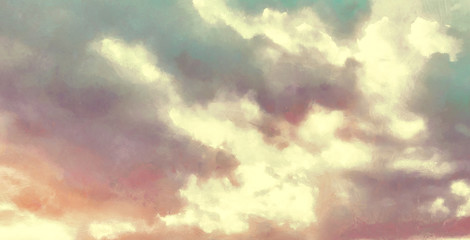 Aesthetic Moody Wallpapers. Beatiful Realistic Sky Painting