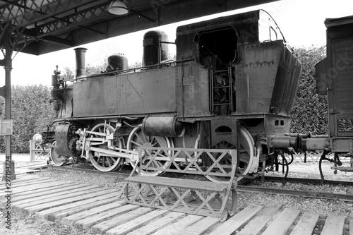 Locomotiva del treno vintage Fototapet