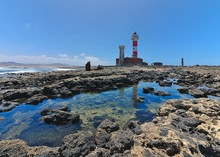 Toston Lighthouse In El Cotillo At Fuerteventura Canary Islands