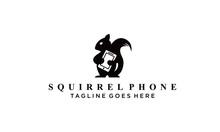 Squirrel And Phone Logo Vectors Royalty Design Inspiration