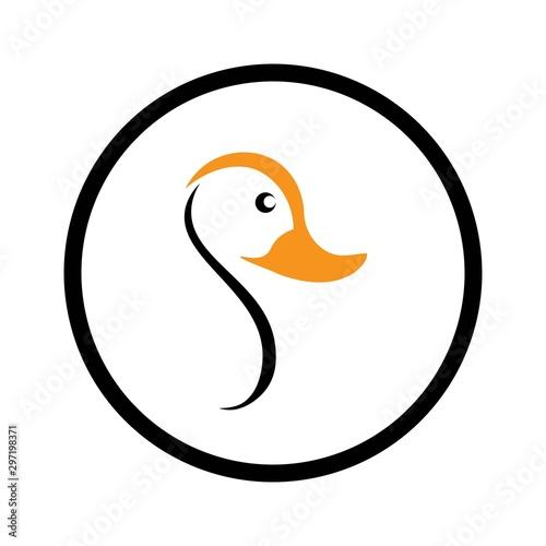 Fotografija duck logo vector